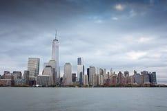 New York City Skyline. NEW YORK CITY, USA-NOVEMBER 3: Manhattan financial district in New York City on november 3, 2013 Royalty Free Stock Photography