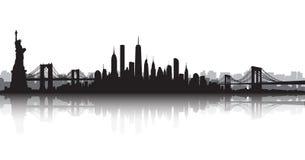 New York City Skyline Vector Royalty Free Stock Photos