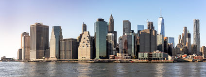 New York City Skyline. View of New York City skyline from Brooklyn Stock Photo