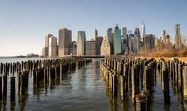 New York City Skyline. View of New York City skyline from Brooklyn Royalty Free Stock Images
