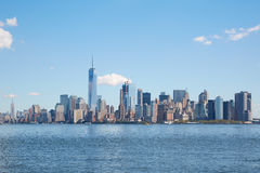 New York city skyline view in a clear day with blue sky Royalty Free Stock Photo