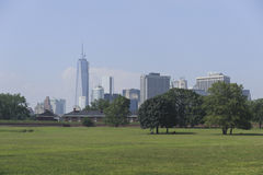 New York City Skyline. View of new york city downtown area from Governors Island Stock Photography