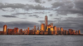 New York City skyline. View of Manhattan, Downtown New York City, U. S. A stock photos