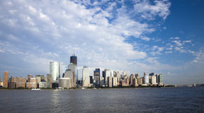 New York City skyline w the Freedom tower Royalty Free Stock Photo