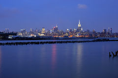 New York City Skyline. Wide view of New York City business district Stock Image