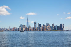 New York city skyline wide view in a clear sunny day Royalty Free Stock Images