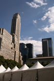 New York City Skyline With Tent Royalty Free Stock Photo