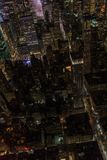 New York City skyscrapers, aerial panorama view. In winter royalty free stock photos