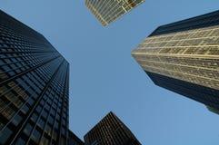 New York City skyscrapers. Bask in sunlight Stock Photo