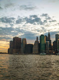 New York City skyscrapers in the evening Stock Photos