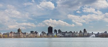 New York City Skyline from Central Park Wide Stock Photo