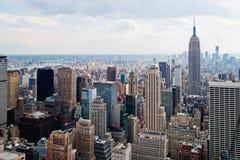 New York City skyskrapor Arkivbilder