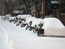 New York City snow storm Royalty Free Stock Images
