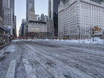 New York City during snow storm Royalty Free Stock Images