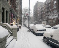 New York City during snow storm Royalty Free Stock Image