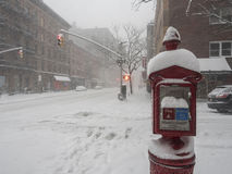 New York City during snow storm Stock Photography
