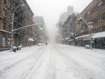 New York City during snow storm Royalty Free Stock Photos