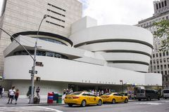 Solomon R. Guggenheim Museum, New York City. New York City. The Solomon R. Guggenheim Museum, an art museum located at Fifth Avenue in the Upper East Side stock image