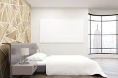 New York City sovrum Arkivbild