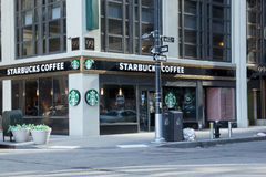 New York City Starbucks Royalty Free Stock Photography