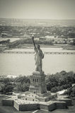 New York City - Statue of Liberty Sky View. This photo was taken in June 2014 in New York City, USA Stock Photography