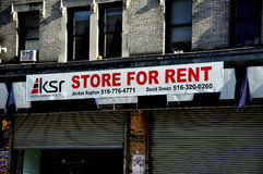 New York City: Store For Rent Sign Stock Photography
