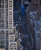 New york city street. Ney york city street with taxis royalty free stock image