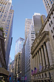New York City Street And Skyscapers Royalty Free Stock Photo