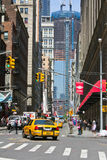 New York City street in the background wtc Royalty Free Stock Photo