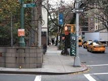 New York City Street Corner Stock Photo