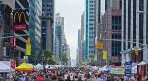 New York City street fair scene. Stock Photos