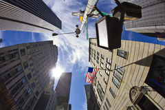 New York City - Street with Fisheye Royalty Free Stock Images