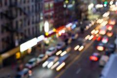 New York City Street Lights Blur Stock Photography