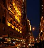 New York City Street at Night Royalty Free Stock Photo