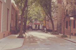 New York city. Street Old style image. Vintage Stock Photography