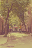 New York city. Street Old style image. Vintage Royalty Free Stock Photos