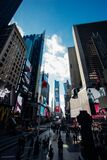 New York City street scene stock images