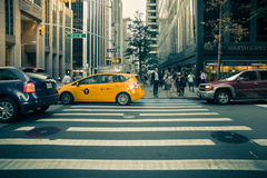 New York City Street Scene Royalty Free Stock Photo