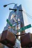 New York City, street sign post. Stock Photography