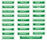New York city street signs Stock Image