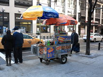 New York City Street Vendor Stock Image