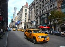 New York City Street. Yellow cabs in New York City street Royalty Free Stock Photos