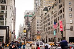 New York City streetlife nahe Central Park Lizenzfreie Stockfotos