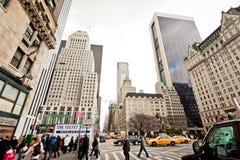 New York City streetlife nahe Central Park Lizenzfreie Stockbilder