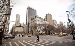 New York City streetlife nahe Central Park Lizenzfreies Stockfoto