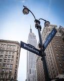 New York. City streets , Broadway Royalty Free Stock Photo