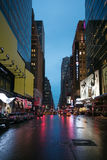 New York City streets at evening time Royalty Free Stock Photography
