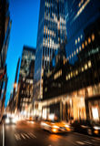 New York City streets at night Royalty Free Stock Photography