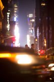 New York City streets at night Stock Images