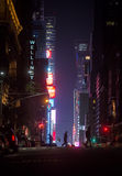 New York City streets at night Royalty Free Stock Photos